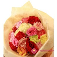 Bouquet Rose Semi Carnation B