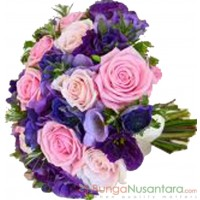 Wedding Bouquet Purple Sapphire