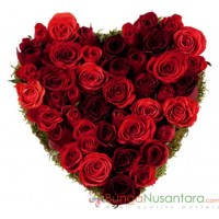 Red Roses Shape Love