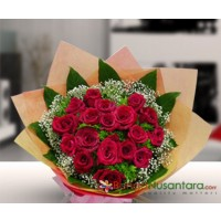 Hand Bouquet Roses R'Red