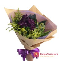 Hand Bouquet Flower Blazing Purple