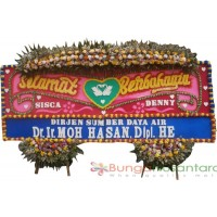 Bunga Papan Wedding Large A ( 400 x 150 cm )