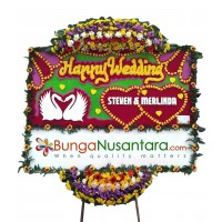 Bunga Papan Wedding Prem 1 ( 200 x 150 cm )