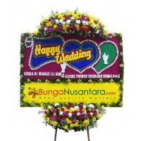 Karangan Bunga Papan Wedding Premium 4