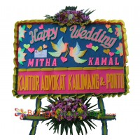Bunga Papan Wedding Gold C 200x150