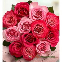Bunga Hand Bouquet Pink Roses Love