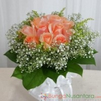 Orange Roses Sparkling Peach