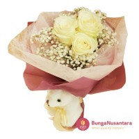 Bunga Hand Bouquet Rose Semi