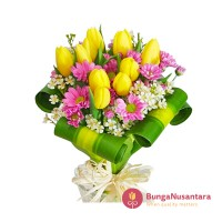 Hand Bouquet Flower Yellow Pearl